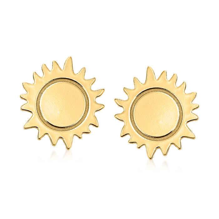 Italian 14kt Yellow Gold Sun Stud Earrings