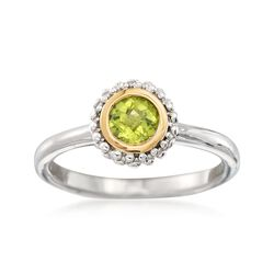 "Phillip Gavriel ""Popcorn"" .45 Carat Peridot Ring in Sterling Silver and 18kt Gold, , default"