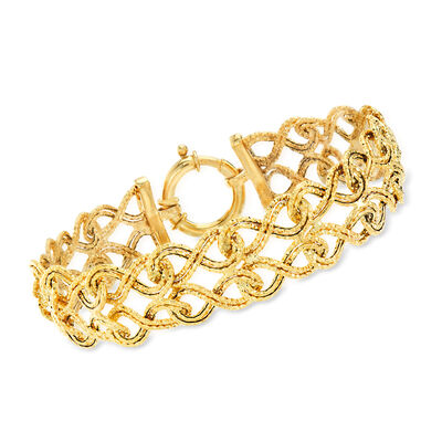 14kt Yellow Gold Infinity-Link Bracelet