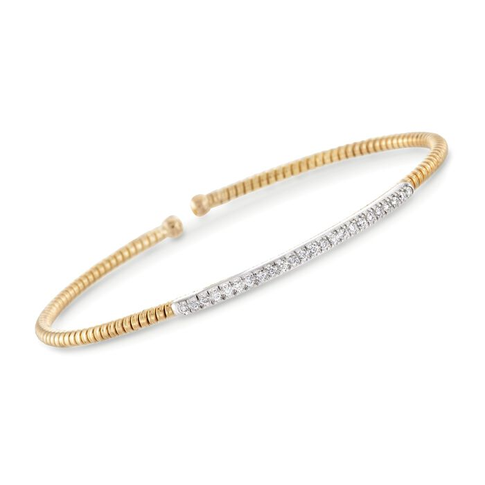 .24 ct. t.w. Diamond Bar Cuff Bracelet in 18kt Yellow Gold