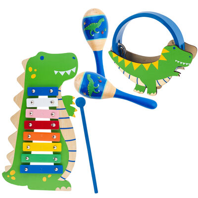 Child's 5-pc. Dinosaur Percussion Set by Stephen Joseph