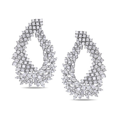 8.70 ct. t.w. Diamond Cluster Earrings in 18kt White Gold, , default