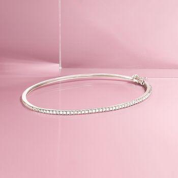 """.48 ct. t.w. Diamond Bangle Bracelet in Sterling Silver. 7"""", , default"""