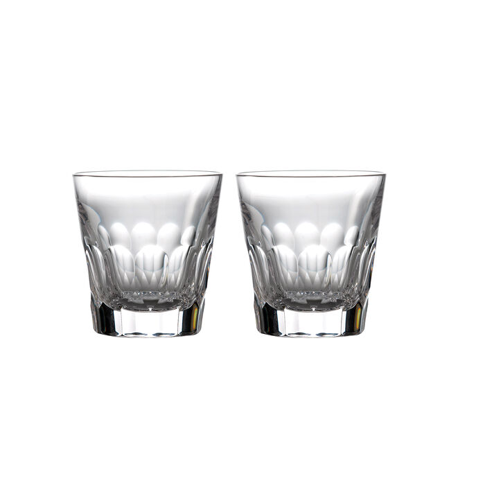 """Waterford Crystal """"Icon"""" Set of 2 Double Old-Fashioned Glasses"""