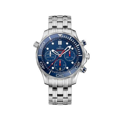 Omega Seamaster Men's 41.5mm Stainless Steel Watch With Blue Dial, , default