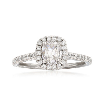 Henri Daussi .97 ct. t.w. Diamond Engagement Ring in 18kt White Gold, , default