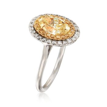 2.42 ct. t.w. White and Fancy Yellow Diamond Ring in 18kt Two-Tone Gold, , default