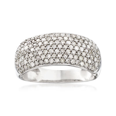 1.00 ct. t.w. Pave Diamond Ring in Sterling Silver, , default