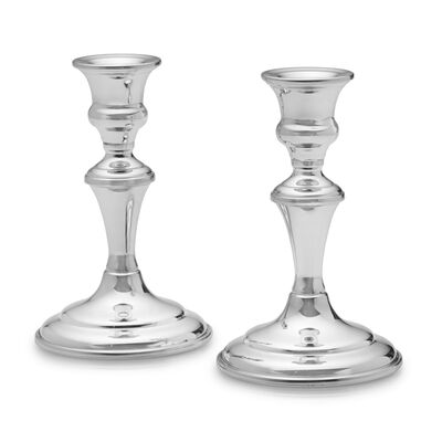 Empire Set of 2 Pewter Medium Candlestick Holders , , default