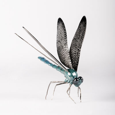 Lladro Porcelain Dragonfly Figurine