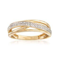 .10 ct. t.w. Diamond Sash Ring in 14kt Yellow Gold, , default