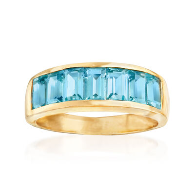 2.40 ct. t.w. Blue Topaz Ring in 14kt Yellow Gold, , default