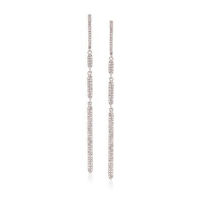 .55 ct. t.w. Diamond Linear Drop Earrings in 14kt White Gold, , default