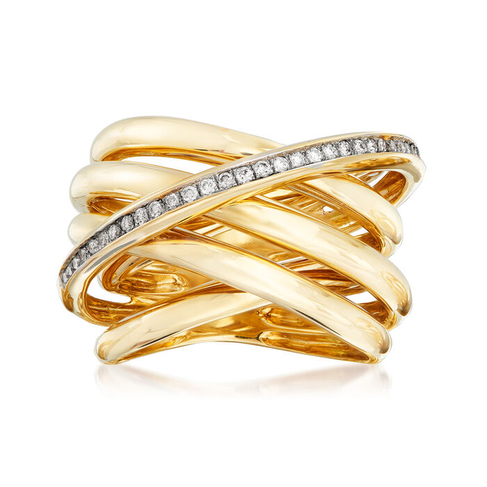 .21 ct. t.w. Diamond Highway Ring in 14kt Yellow Gold