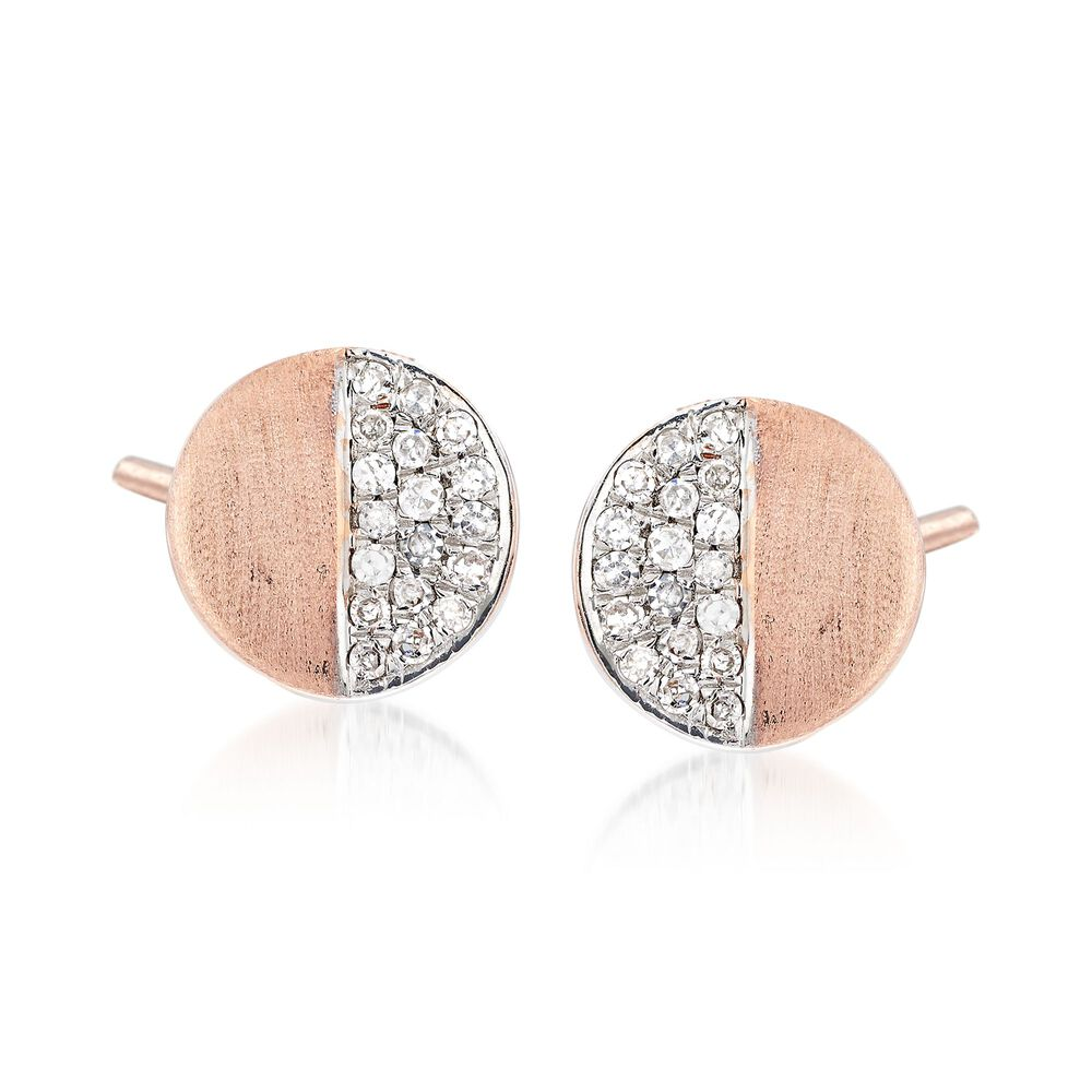 8266674ac8749 .11 ct. t.w. Diamond Circle Stud Earrings in 14kt Rose Gold
