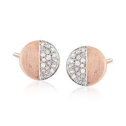 .11 ct. t.w. Diamond Circle Stud Earrings in 14kt Rose Gold, , default