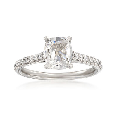 Henri Daussi 1.20 ct. t.w. Certified Diamond Engagement Ring in 18kt White Gold