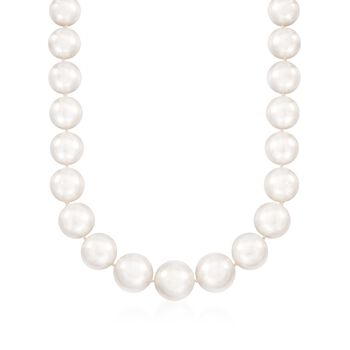 12-15mm Cultured South Sea Pearl Necklace With 14kt Yellow Gold, , default