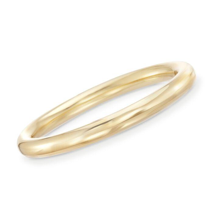 "Italian Andiamo 9mm 14kt Yellow Gold Bangle Bracelet. 7.5"", , default"