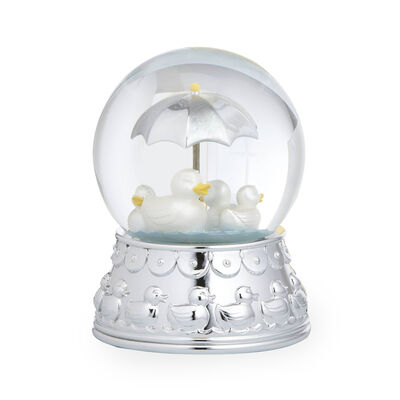 "Reed and Barton ""Something Duckie"" Silver Plate Rain Globe, , default"