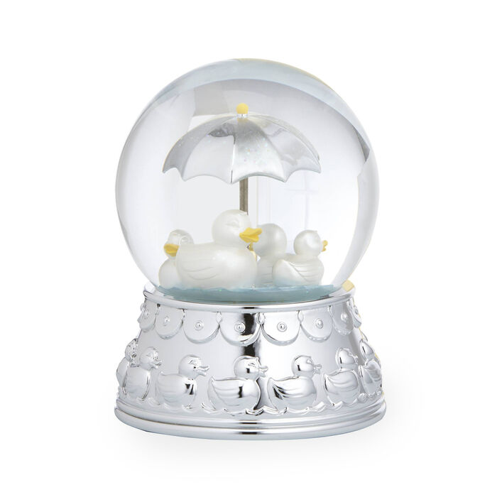 """Reed and Barton """"Something Duckie"""" Silver Plate Rain Globe, , default"""