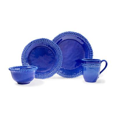 """Euro Ceramica """"Sarar"""" 16-pc. Service for 4 Blue Dinnerware Set, , default"""