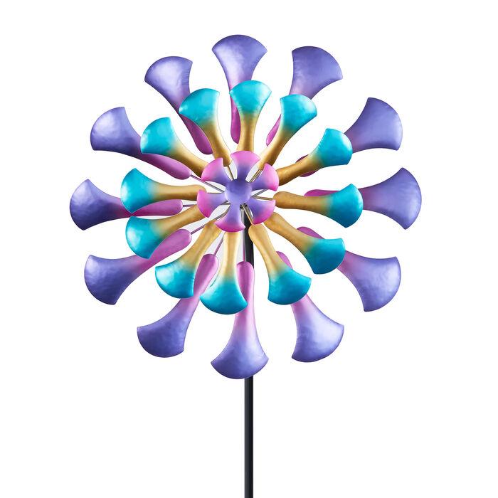 """""""Floral"""" Outdoor Decorative Garden Wind Spinner. 26"""""""