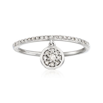 .20 ct. t.w. Diamond Circle Charm Ring in 14kt White Gold