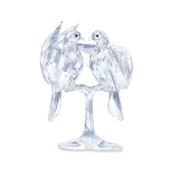 "Swarovski Crystal ""Turtle Doves on a Branch"" Figurine"