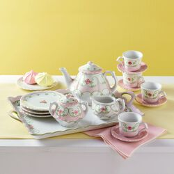 "Child's ""Eloise Floral"" Porcelain Tea Set, , default"