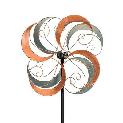"Regal ""Swirls"" Metal Outdoor Rotating Wind Spinner, , default"