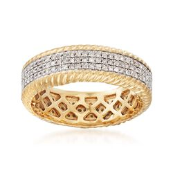 .50 ct. t.w. Multi-Row Diamond Eternity Band in 18kt Gold Over Sterling, , default