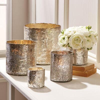 Set of 5 Argent Candleholder/Vase, , default