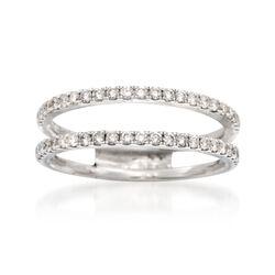 Simon G. .43 ct. t.w. Diamond Wedding Ring in 18kt White Gold, , default