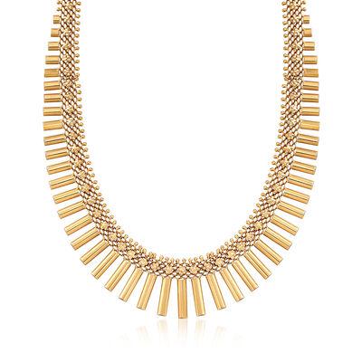 C. 1940 Vintage 14kt Yellow Gold Bar Necklace, , default
