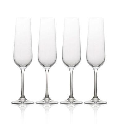 """Mikasa """"Gianna"""" Set of 4 Ombre Smoke Champagne Flutes"""