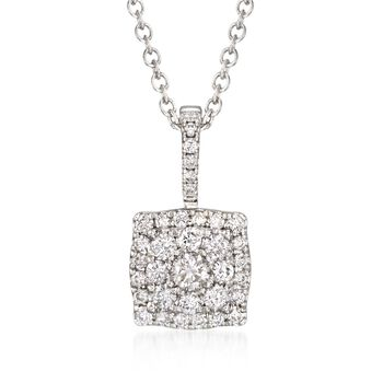 "Gregg Ruth .53 ct. t.w. Diamond Necklace in 18kt White Gold. 18"", , default"