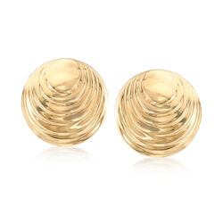 Italian 14kt Yellow Gold Seashell Earrings, , default