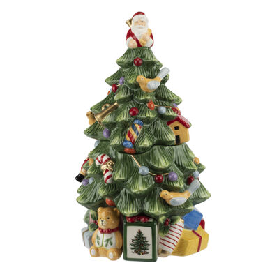 "Spode ""Christmas Tree"" Cookie Jar"