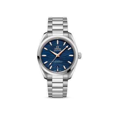 Omega Seamaster Aqua Terra Women's 38mm Automatic Stainless Steel Watch with Blue Dial
