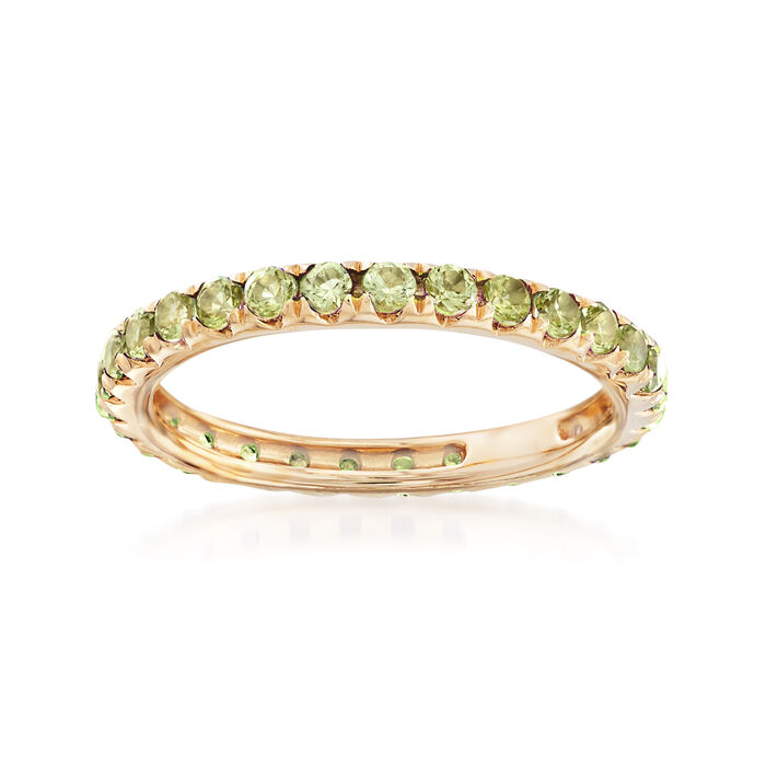 1.00 ct. t.w. Peridot Eternity Band in 14kt Yellow Gold, , default