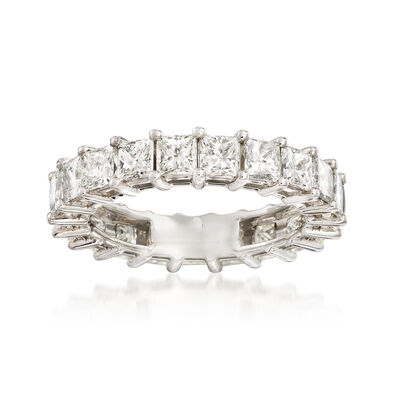 4.00 ct. t.w. Princess-Cut Diamond Eternity Band in Platinum