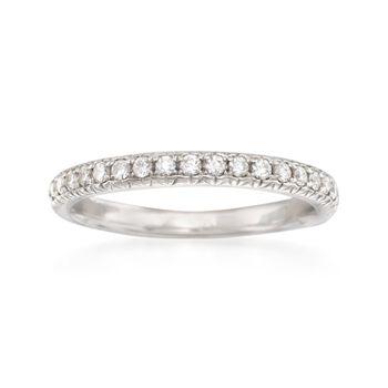 .31 ct. t.w. Diamond Wedding Ring in 14kt White Gold, , default