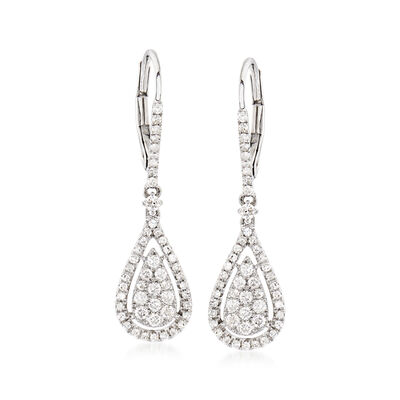 .70 ct. t.w. Diamond Drop Earrings in 14kt White Gold