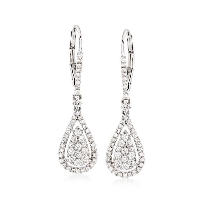 .70 ct. t.w. Diamond Drop Earrings in 14kt White Gold