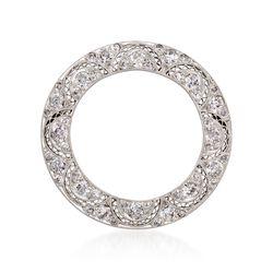 C. 1970 Vintage 2.00 ct. t.w. Diamond Open Circle Pin in Platinum , , default
