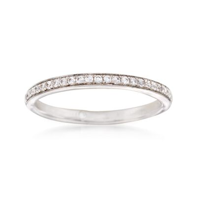Gabriel Designs .18 ct. t.w. Diamond Wedding Ring in 14kt White Gold