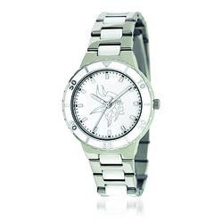 Ladies 36mm NFL Minnesota Vikings Stainless Steel Watch With Mother-Of-Pearl Dial, , default