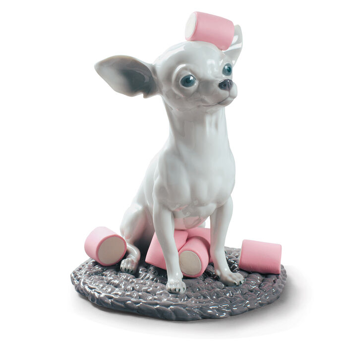 "Lladro ""Chihuahua with Marshmallows"" Porcelain Figurine"
