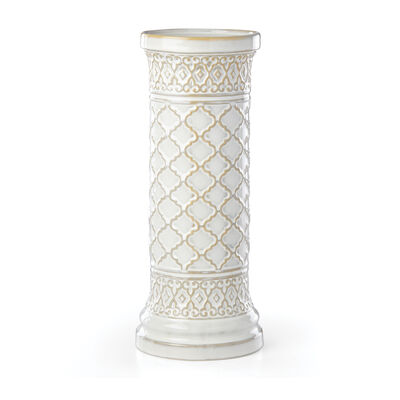 "Lenox ""Global Tapestry"" Porcelain Pillar Candleholder, , default"